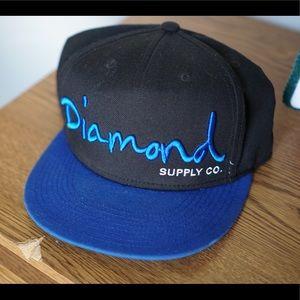 Diamond Supply Co Snap Back Blk/Blue
